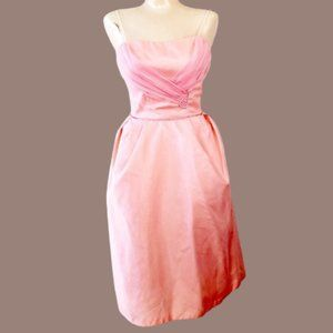 Vintage 50s Bubblegum Pink Sleeveless Party Dress